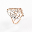 Auksinis moteriškas žiedas rodžiuotas Ž0247