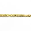 Geltono aukso moteriška apyrankė 19 cm Ap2694