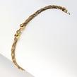 Moteriška auksinė grandinėlė ant rankos 18,5cm Ap2720