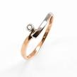 Auksinis moteriškas žiedas su briliantais