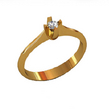 Sužadėtuvių žiedas su 0,10 ct deimantu KASZ 12