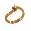 Sužadėtuvių žiedas su 0,10 ct deimantu KASZ 16