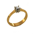 Sužadėtuvių žiedas su 0,10 ct deimantu KASZ 21