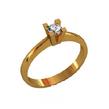 Sužadėtuvių žiedas su 0,10 ct deimantu KASZ 25