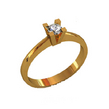 Sužadėtuvių žiedas su 0,15 ct deimantu KASZ 26