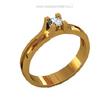 Sužadėtuvių žiedas su 0,15 ct deimantu KASZ 50