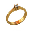 Sužadėtuvių žiedas su 0,25 ct deimantu KASZ 34
