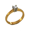 Sužadėtuvių žiedas su 0,25 ct deimantu KASZ 55
