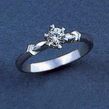 Sužadėtuvių žiedas su 0,30 ct deimantu KASZ 40
