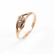 Auksinis moteriškas žiedas su cirkonio kristalais Ž0236