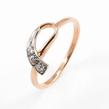 Auksinis moteriškas žiedas su cirkonio kristalais Ž0238