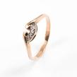 Auksinis moteriškas žiedas su cirkonio kristalais Ž0249