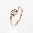 Auksinis moteriškas žiedas su cirkonio kristalais Ž0252