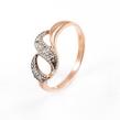 Auksinis moteriškas žiedas su cirkonio kristalais Ž0257