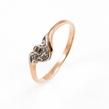 Auksinis moteriškas žiedas su cirkonio kristalais Ž0262