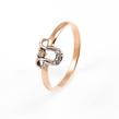Auksinis moteriškas žiedas su cirkonio kristalais Ž0271