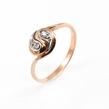 Auksinis moteriškas žiedas su cirkonio kristalais Ž0274