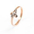 Auksinis moteriškas žiedas su cirkonio kristalais Ž0286