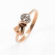 Auksinis moteriškas žiedas su cirkonio kristalais Ž0305