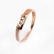 Auksinis moteriškas žiedas su cirkonio kristalais Ž0315