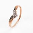 Auksinis moteriškas žiedas su cirkonio kristalais Ž0320