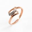 Auksinis moteriškas žiedas su cirkonio kristalais Ž0328