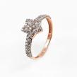 Auksinis moteriškas žiedas su cirkonio kristalais Ž0334