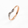 Auksinis moteriškas žiedas su cirkonio kristalais Ž0337