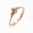 Auksinis moteriškas žiedas su cirkonio kristalu Ž0351