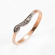 Auksinis moteriškas žiedas su cirkonio kristalais 18# Ž0355