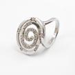 Sidabrinis moteriškas žiedas su cirkonio kristalais