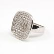 Sidabrinis moteriškas žiedas su swarovski kristalais