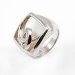 Sidabrinis moteriškas žiedas