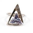 Sidabrinis moteriškas žiedas su Ametistu