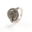 Sidabrinis moteriškas žiedas su Markazitais