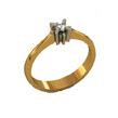 Dviejų spalvų aukso Sužadėtuvių žiedas su 0,06 ct deimantu KASZ 20