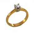 Klasikinio stiliaus Sužadėtuvių žiedas su 0,10 ct deimantu KASZ 37