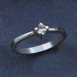 Sužadėtuvių žiedas su 0,10 ct deimantu KASZ 46