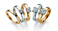 Klasikinis Sužadėtuvių Žiedas su 0,10 ct deimantu 3,0 gr KASZ 58