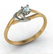 Dviejų spalvų aukso Sužadėtuvių žiedas su 0,10 ct deimantu KASZ 60
