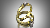 Sužadėtuvių žiedas su 0,15 ct deimantu KASZ 61
