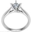 Sužadėtuvių žiedas su 0,25 ct deimantu KASZ 64