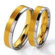 Vestuviniai Žiedai dviejų spalvų aukso 5 mm 10 gr KAV002