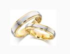Vestuviniai Žiedai iš raudono/balto aukso 5 mm 10 gr KAV027