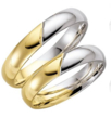Dvispalviai Vestuviniai Žiedai 5 mm 10 gr KAV030
