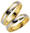 Vestuviniai Žiedai dviejų spalvų 5 mm 11 gr KAV032