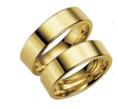 Raudono (rusiško) aukso Vestuviniai Žiedai 5 mm 10 gr KAV035