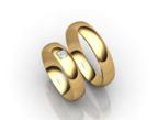 Vestuviniai Žiedai su kvadrato imitacijos akute 5 mm 10 gr KAV048