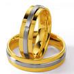 Dvispalviai Vestuviniai Žiedai su akmenuku 6 mm 12 gr KAV003