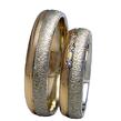 Vestuviniai Žiedai dvispalviai su faktūra 3 akutėmis 6mm 12gKAV021